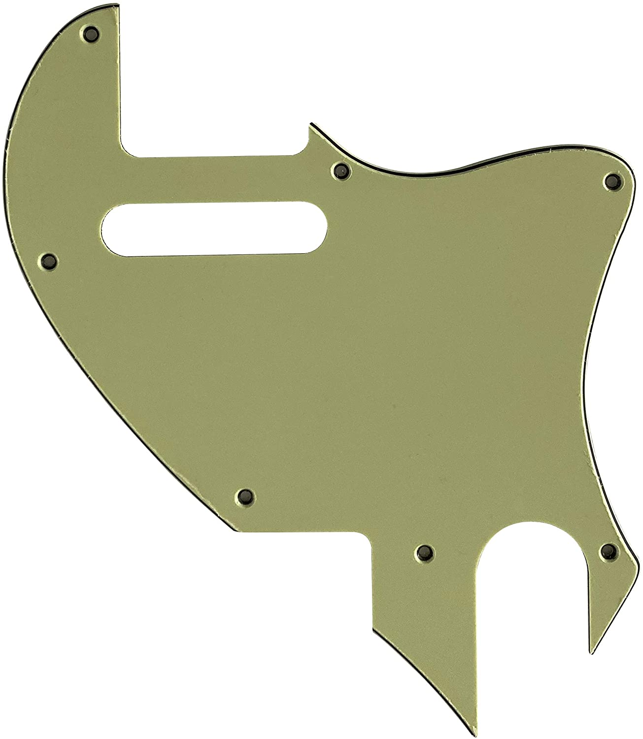 For US Tele F hole Hybrid Convertion Telecaster Guitar Pickguard (3 Ply Vintage Green)
