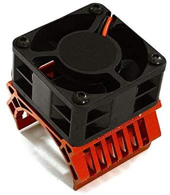 Integy RC Model Hop-ups C28599RED 36mm Motor Heatsink+40x40mm Cooling Fan 16k RPM for 1/10 TR-MT10E & TRX-4