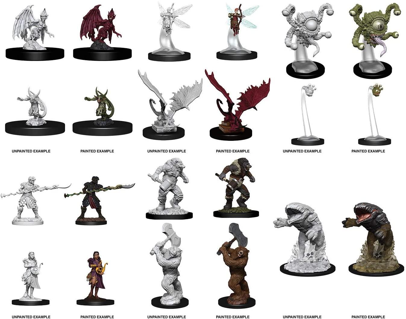 D&D Nolzur`s Miniatures W9: Bulette, Wereboar & Werebear, Yaun-Ti Purebloods, Spectator & Gazers, Sprite & Pseudodragon, Quasit & Imp