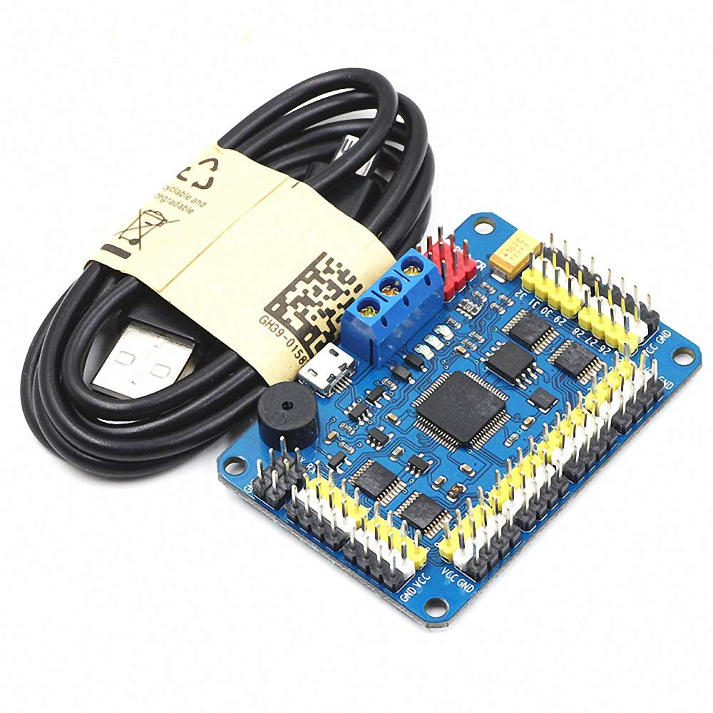 New Version 32 Channel Robot Servo Control Board Servo Motor Controller PS-2 Wireless Control USB/UART Connection Mode