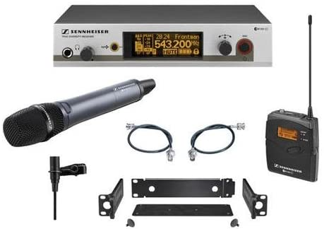 Sennheiser ew312/335 G3 Wireless System with Handheld and Lavalier Microphones, A-516-558MHz