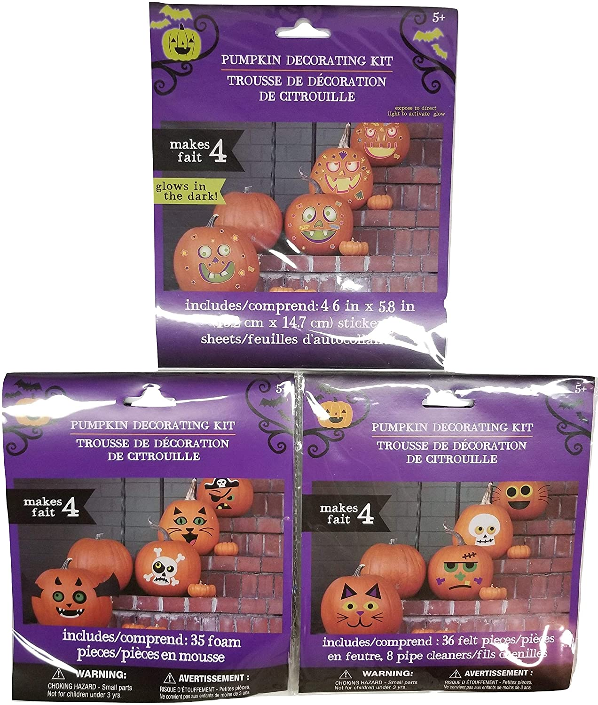 Greenbriar Pumpkin Decorating Craft Kits-Decorates 12 Pumpkins with Cute & Funny Faces