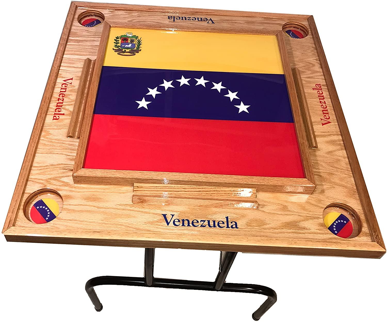 Venezuela Domino Table the full Flag