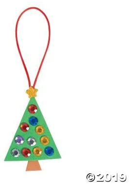 Jewel Christmas Tree ORN Craft Kit -12 - Crafts for Kids and Fun Home Activities