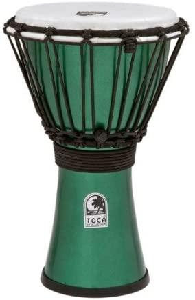 Toca TFCDJ-7MG Freestyle Colorsound 7-Inch Djembe - Metallic Green