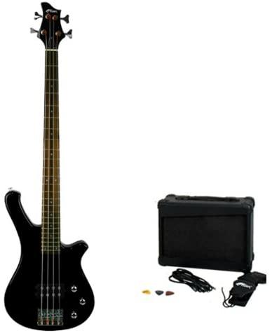 Tiger Electric Bass Guitar Pack - Black