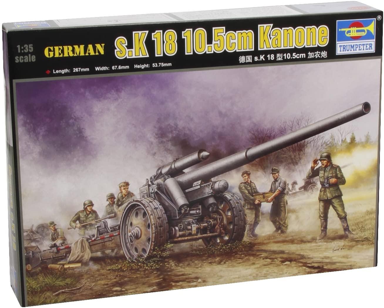 Trumpeter 1/35 German 10.5cm s.K 18 Heavy Artillery Gun Model Kit
