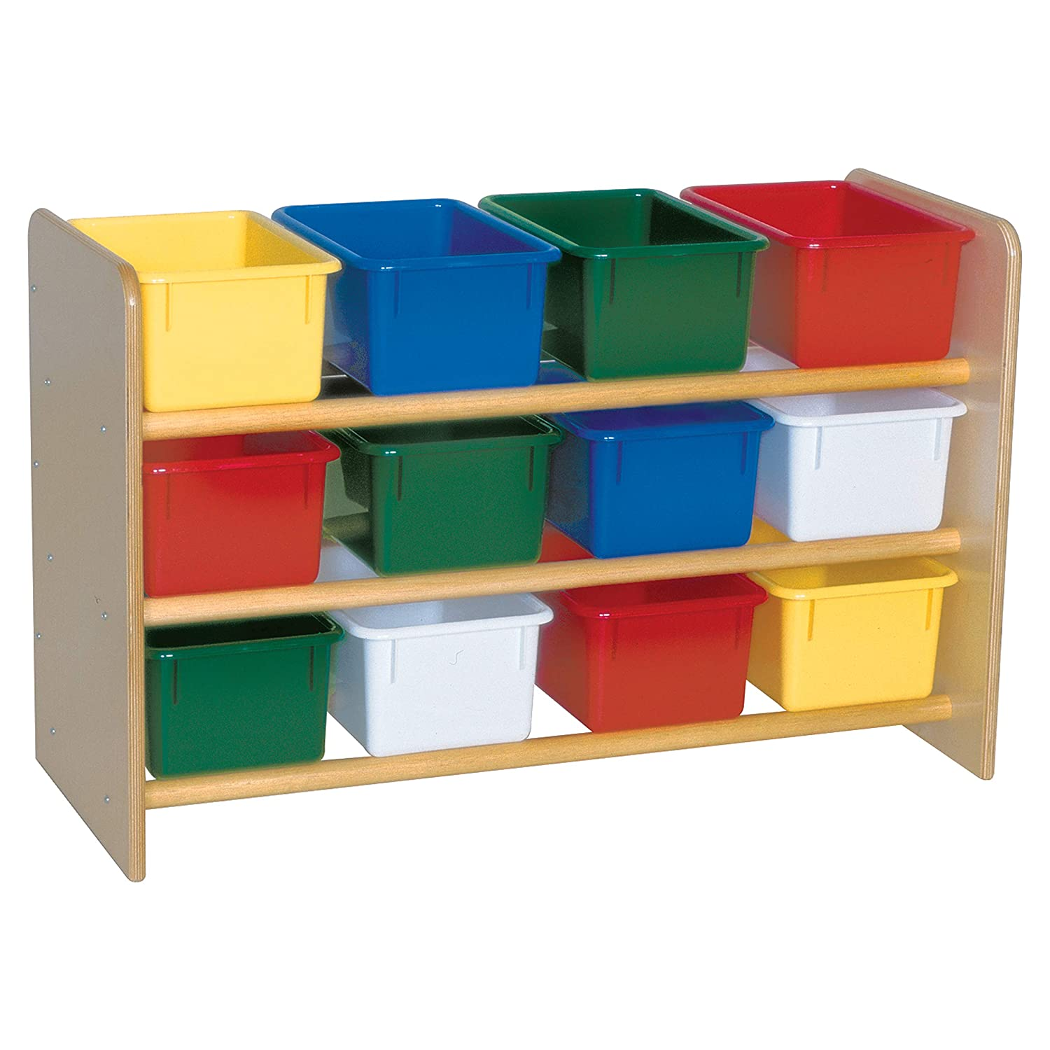 Wood Designs See-All Storage with (12) Assorted Trays