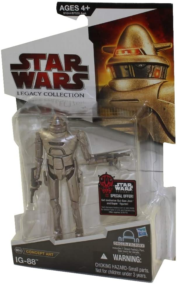 Star Wars 2009 Legacy Collection BuildADroid Action Figure BD No. 40 Concept Art Series IG88