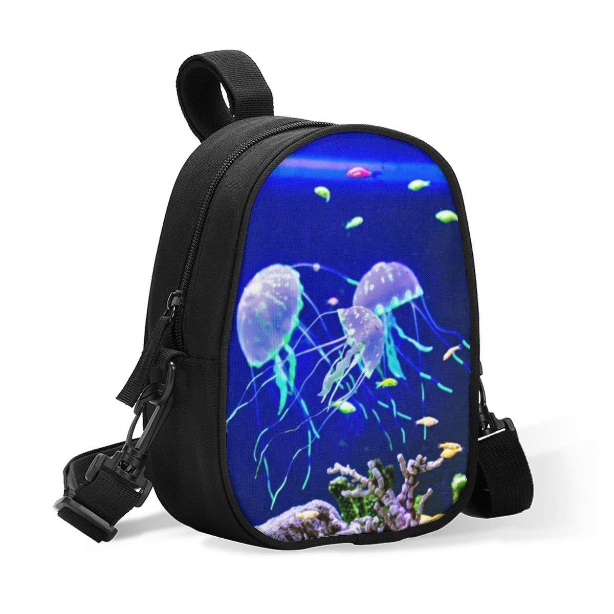 Insulated Baby Bottle Storage Cooler Bag Underwater Coral Jellyfish Breastmilk Cooler, Day Care & Lunch Bag for Baby Formula, Breast Milk, Sports Drink - Water Bottle Holder(2 Bottles)