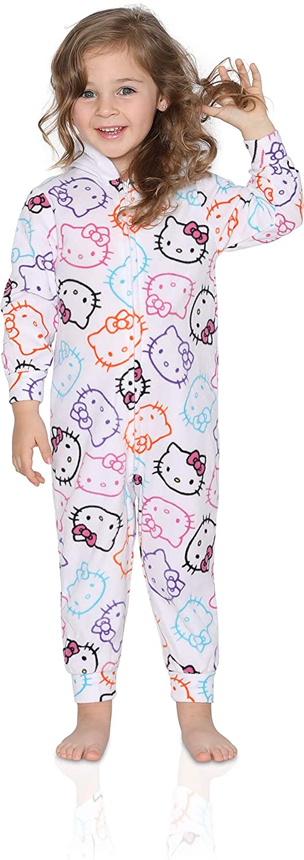 Hello Kitty Girls Pajama - Hooded Onesie Blanket Sleeper