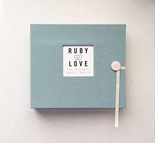Solid Baby Memory Book (Blue-Gray)