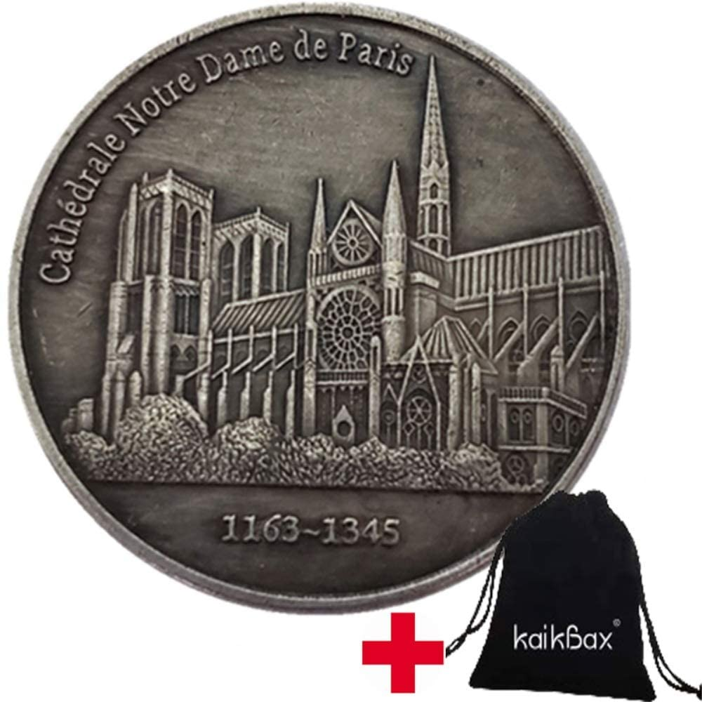BoBoLing Great France Notre Dame de Paris Old Coins -Uncirculated FR Old Coin -France Nickel Coin Crafts Souvenir Decorations Favors Gifts Best QualityShop