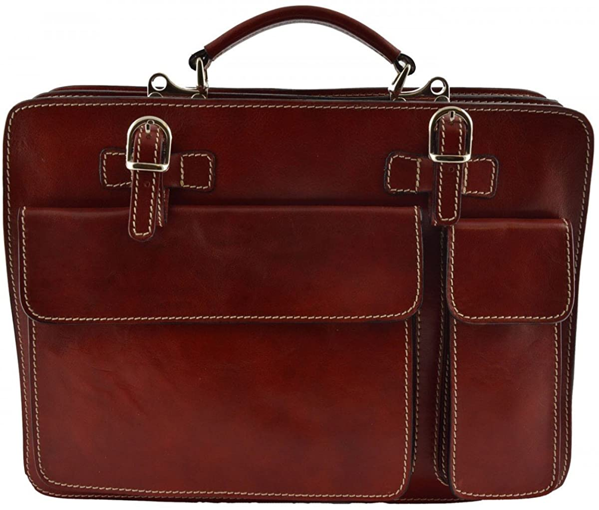 Leather Business Bag Color Red