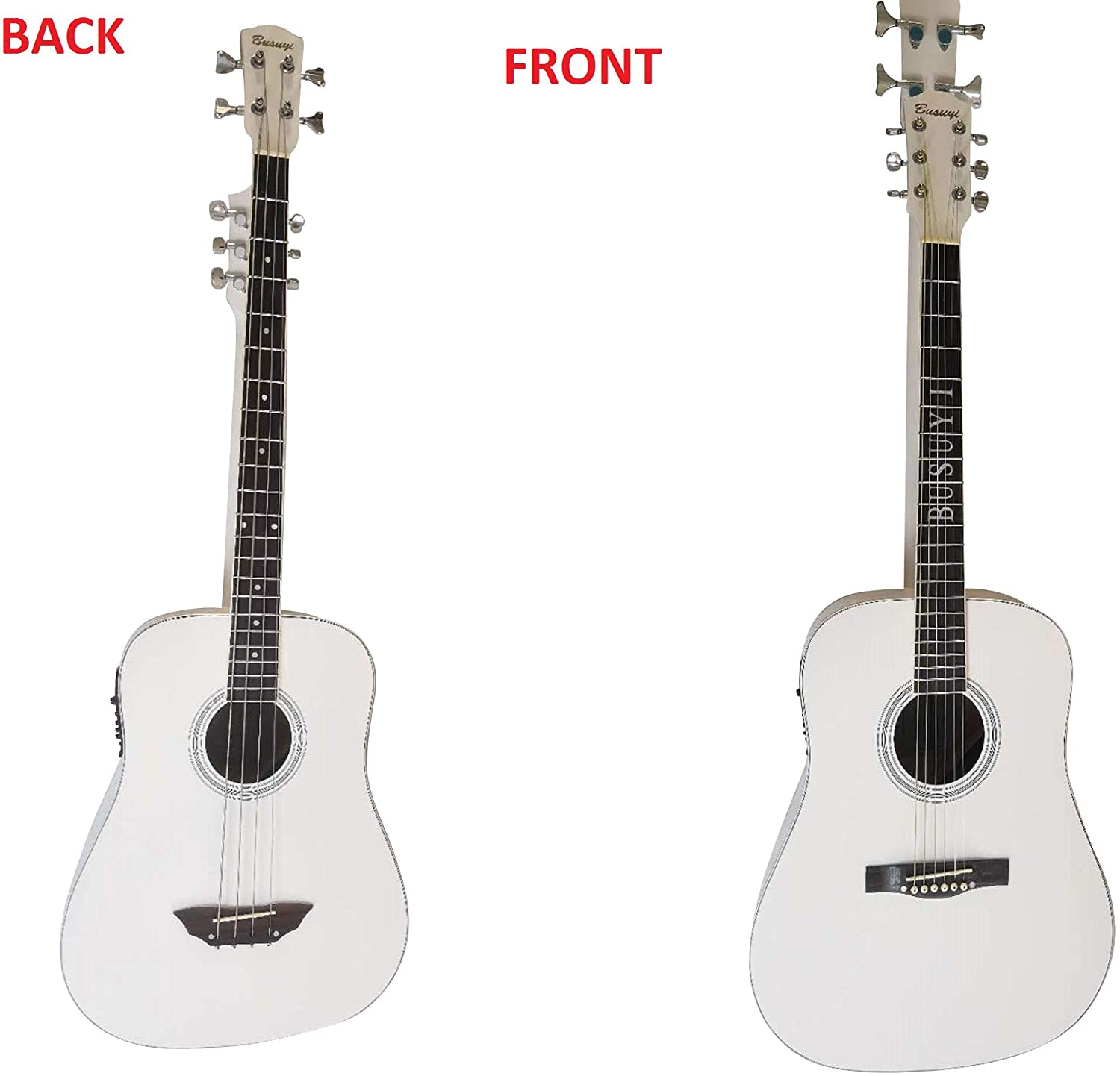4 Strings Bass/ 6 Strings Acoustic Double Neck,Double Sided Busuyi Guitar 2019