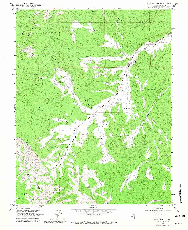Map Print - Upper Valley, Utah (1964), 1:24000 Scale - 24