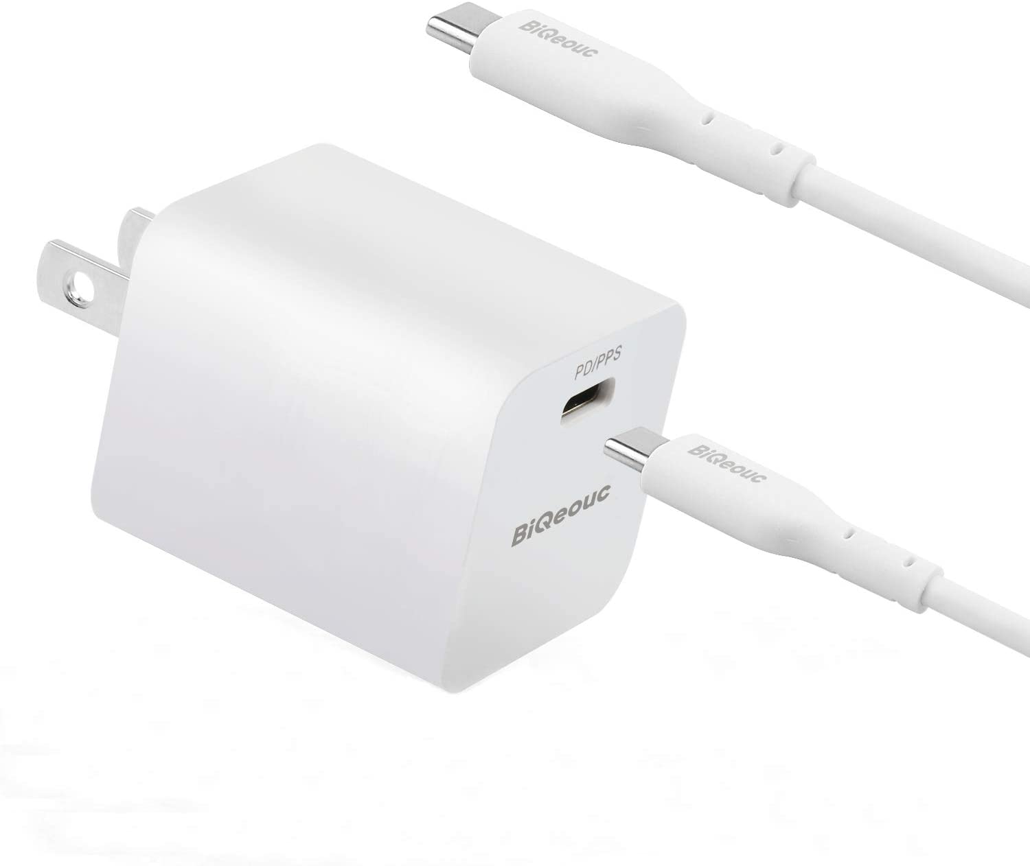 30W USB C Charger, BiQeouc PD 3.0 Wall Charger with PPS, Power Delivery Fast Charge Foldable Adapter for 13