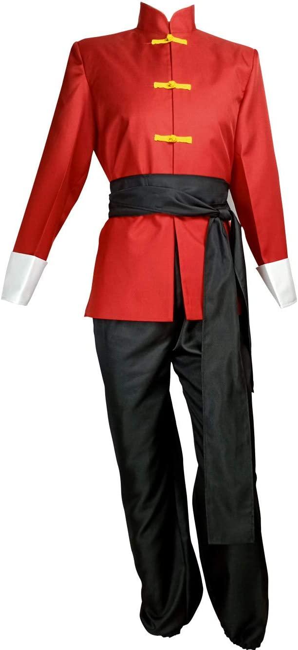 Lvcos Ranma 1/2 Ranma Saotome Cosplay Costume Red (Female M)