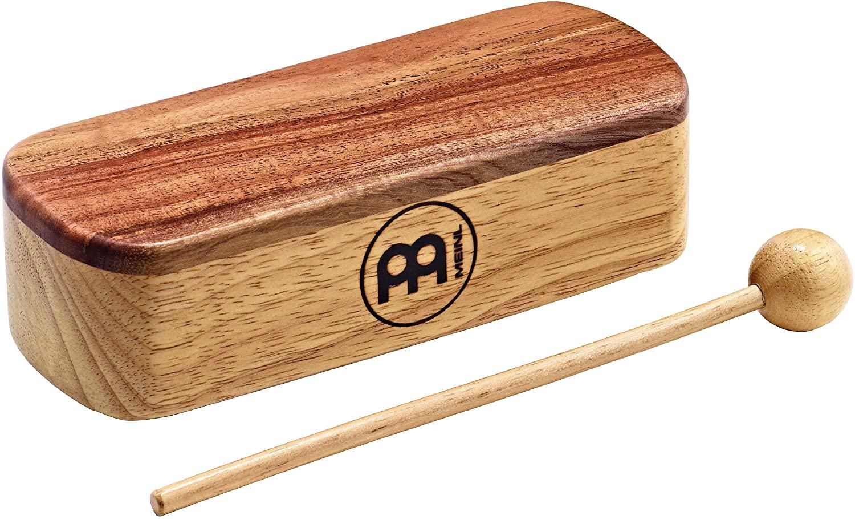 Meinl Percussion PMWB1-M Medium Professional Wood Block, Natural Finish
