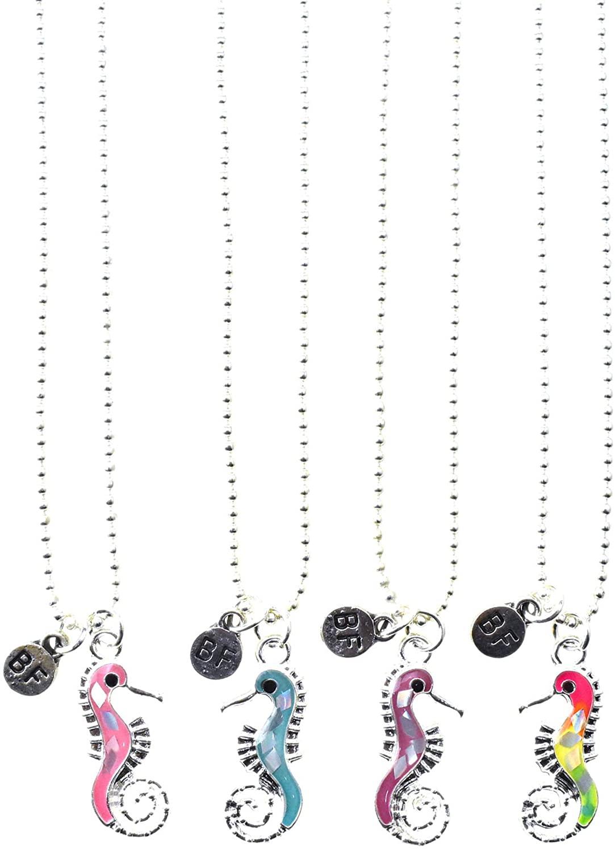 Homeford Glitter Seahorse Best Friend Necklaces, 20-Inch, 10-Piece