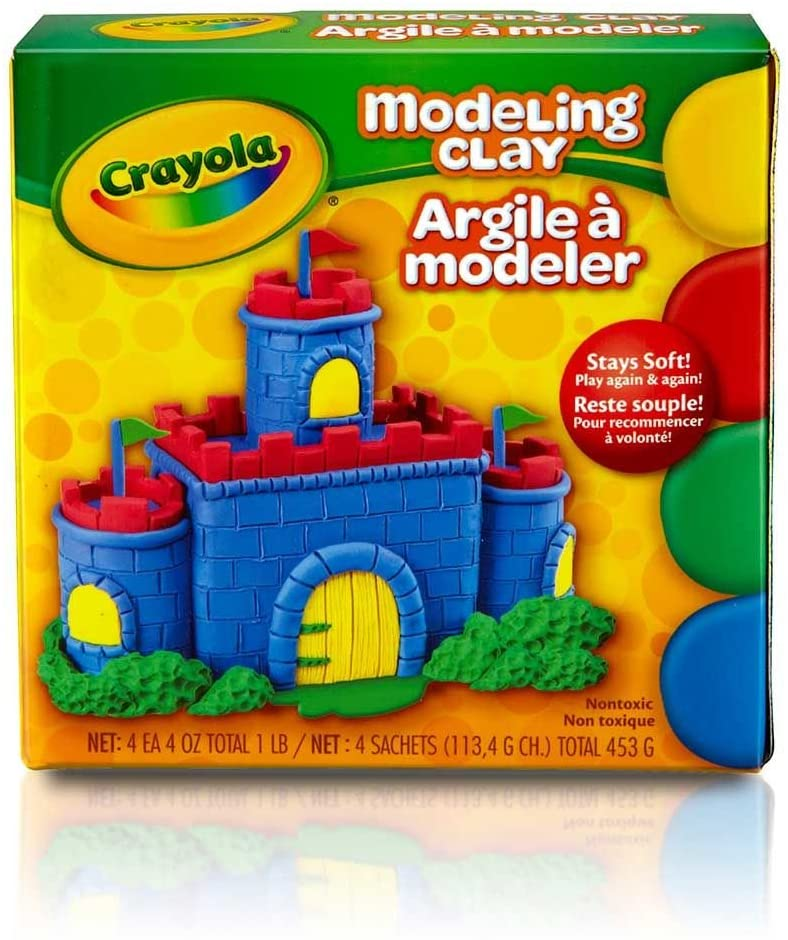 Crayola Modeling Clay 4 ounces ( Pack of 6)