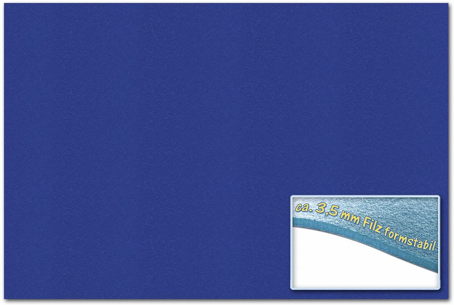 Bringmann Folia 510336 -  Felt 30 x 45 cm, ca. 3.5 mm, 1 Sheet, Ultra Marine