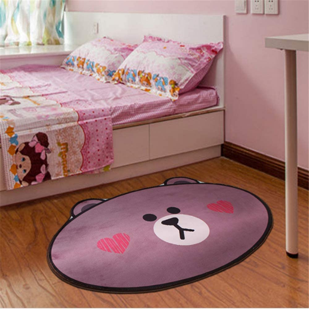 YOMIMAX Children's Mat Room Bedside Carpet Kids Round Rug Baby Crawling Activity Mats (40