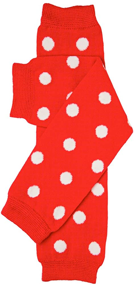 juDanzy Red and White Polka Dot Baby Girl, Boy and Toddler Leg Warmers