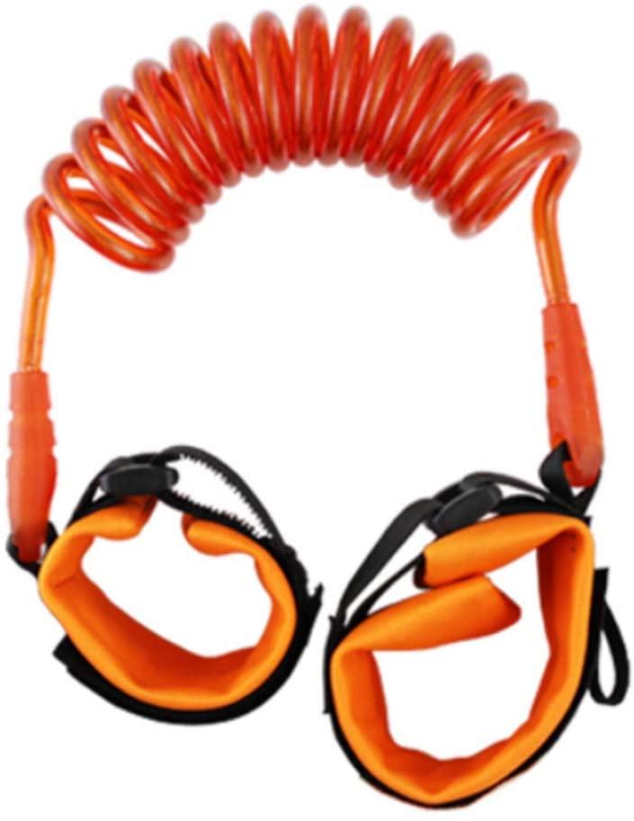 Anti Lost Safety Wrist Link Belt, Baby Kids Safty Anti Lost Walking Hand Belt Wrist Link Bungee Leash Safety Toddler Harness, Travelling Helper,Orange