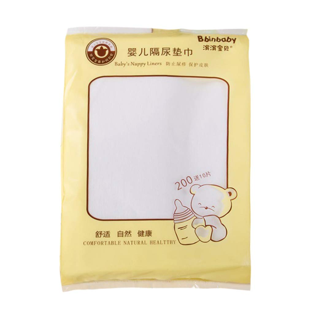 210 Pack Non-Woven Diaper Liner, Biodegradable Flushable,Fragance Free and Chlorine Free (21cmx30cm, White)