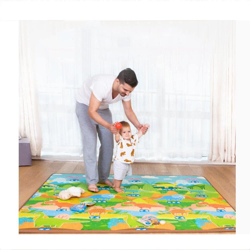 LIUZEIMIN Baby Crawling mat Safe Kids Puzzle playmat Foam Blanket Rug Children Bedroom Decor Living Room Rugs-A 1802002.0cm