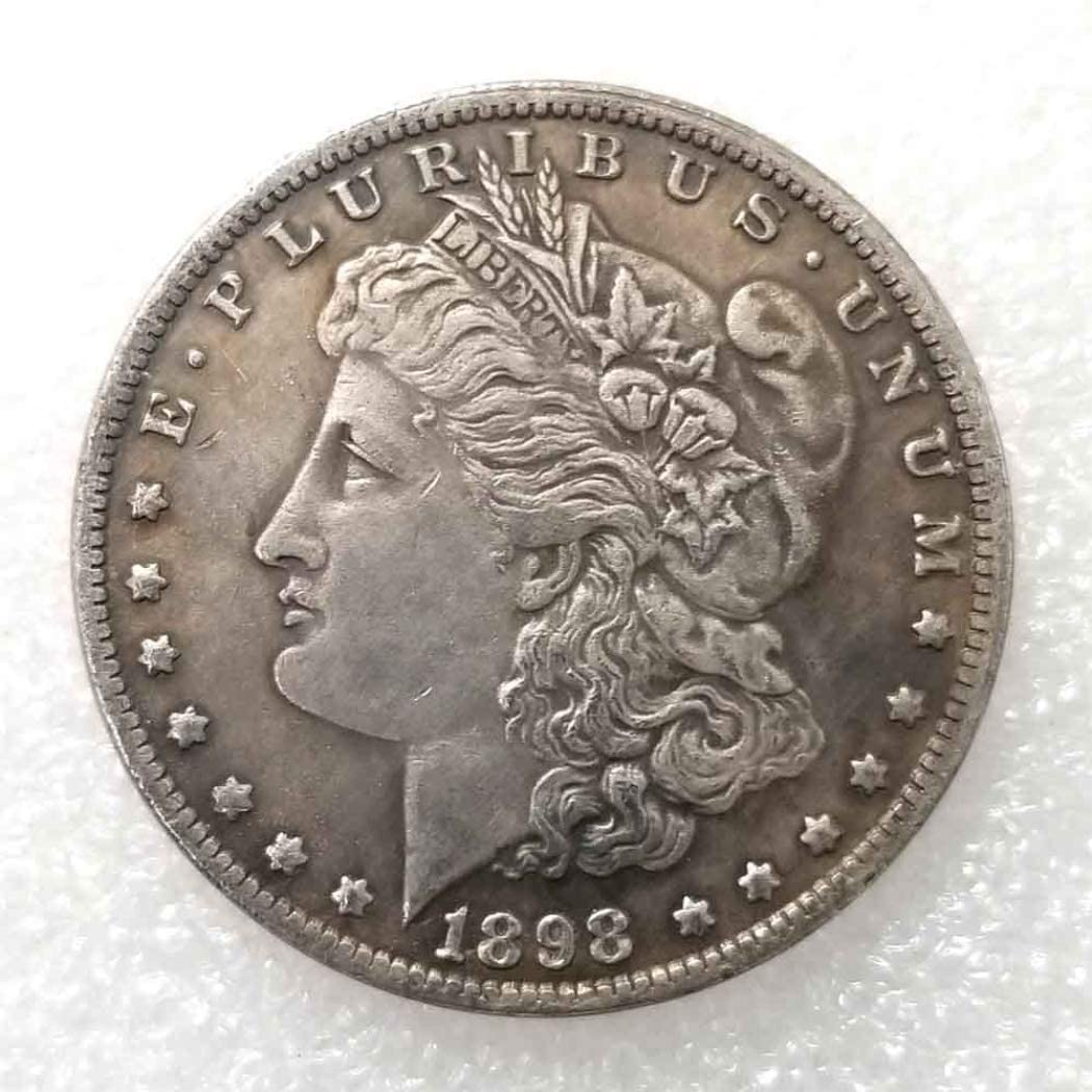 LiRanCoin (1799-1921 Antique Liberty One-Dollar Coin - Great American Commemorative Old Coins- USA Uncirculated Morgan Dollars-Discover History of US Coins Great LiRanProduct 1898