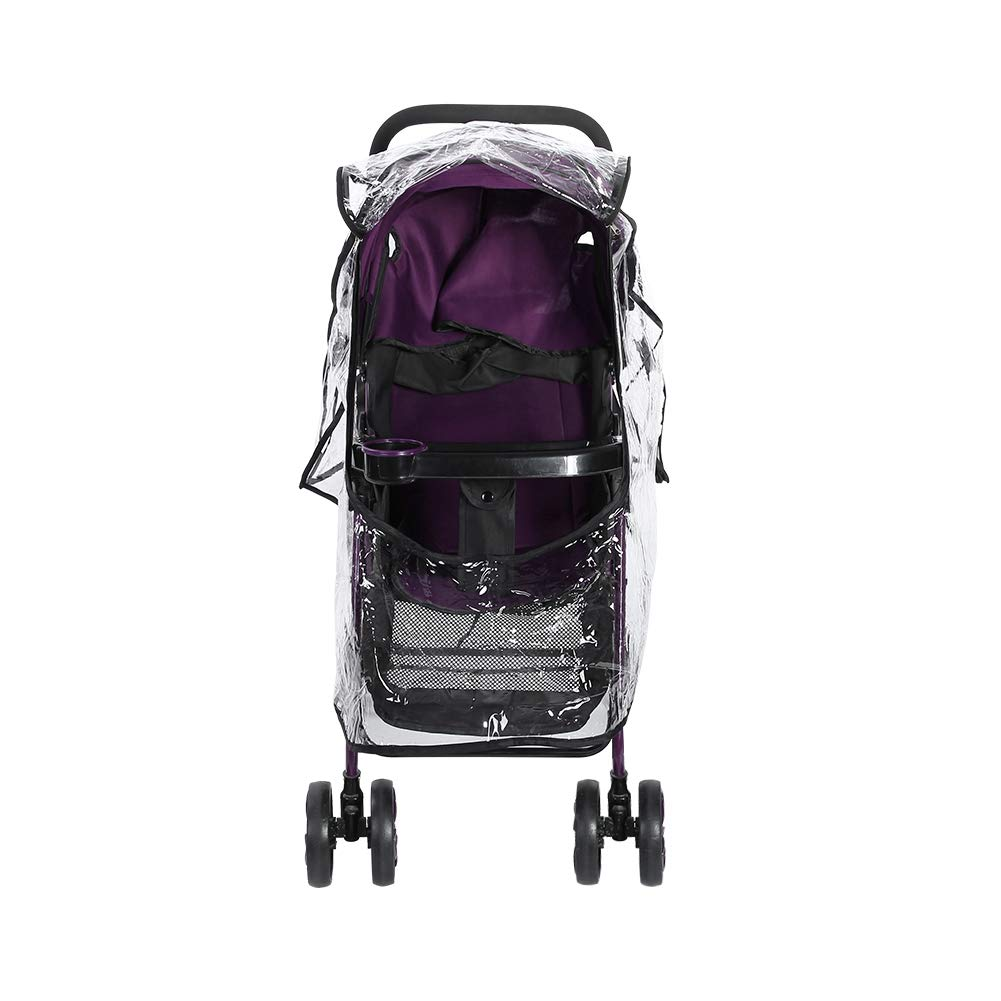 Universal Baby Pushchair Rain Cover, Universal Stroller Pushchairs Transparent Weather Dust Shield Cover