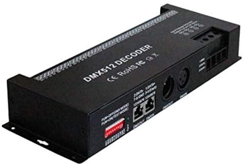 Clips 30CH RGB DMX 512 Decoder Led Controller, RGB LED DMX512 Decoder 30Channel X 2A for LED Strip Light DC9-24V 60A DMX Dimmer Driver - (Color: Black)