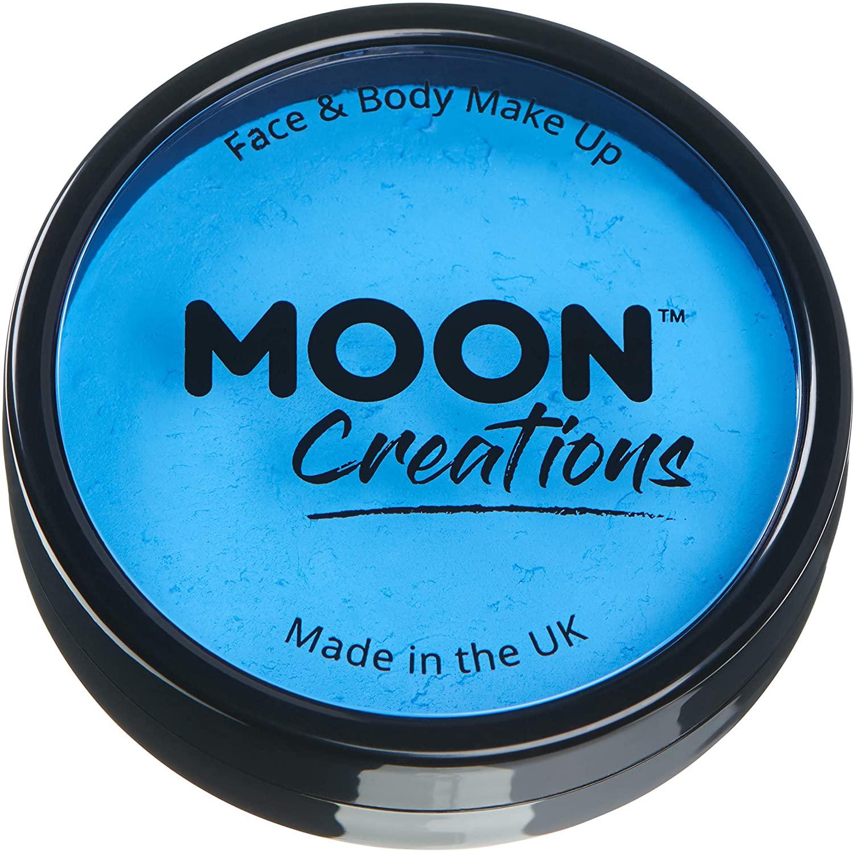 Moon Creations - Pro Face & Body Paint Cake Pots - Sky Blue