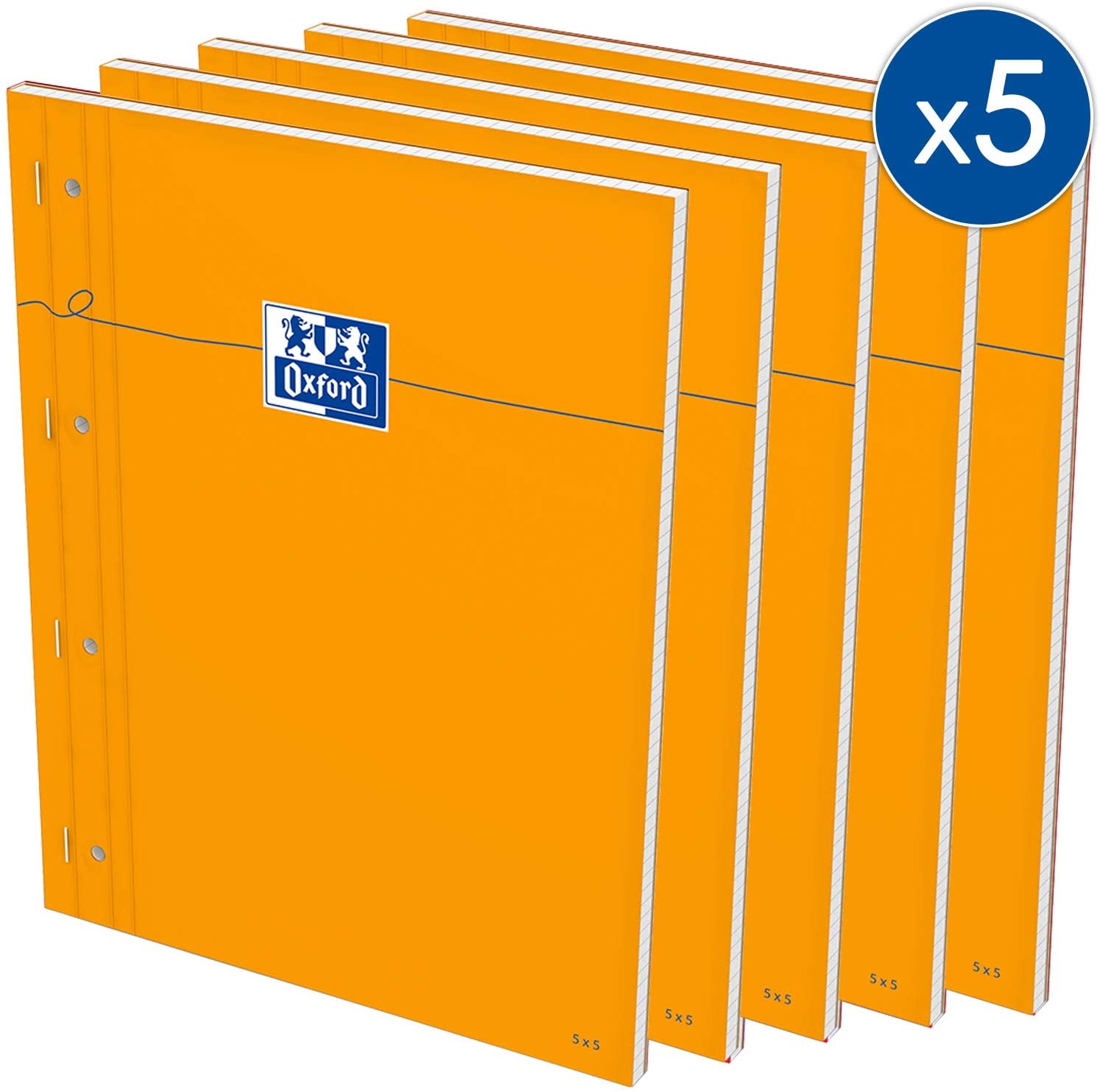 Oxford Stapled Ruled, Perforated Sides Full Page 230x2975x5White Paper (Pack of 5