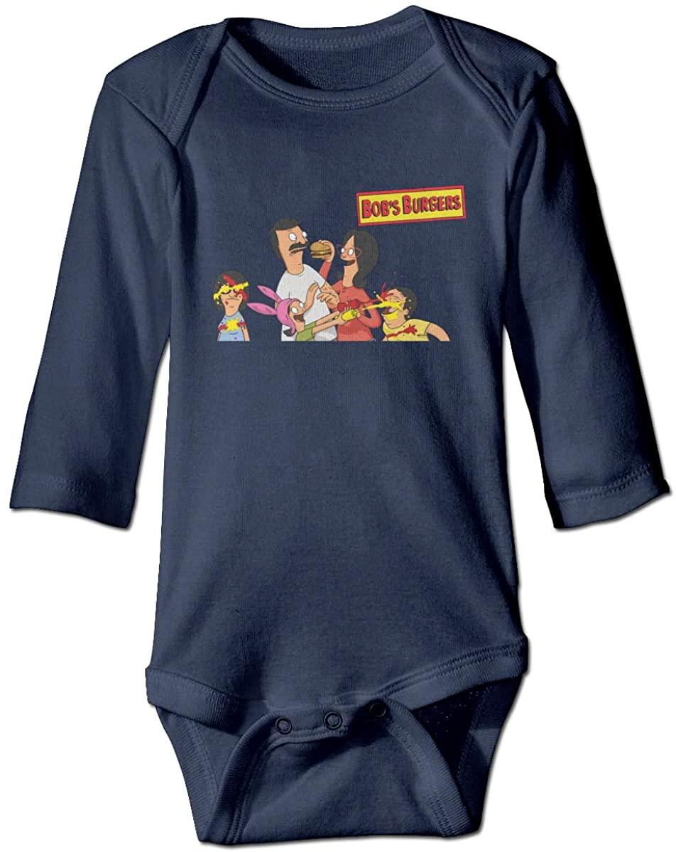 Bobs Burger Newborn Long Sleeve Onesies Bodysuit for Baby Boys Girls