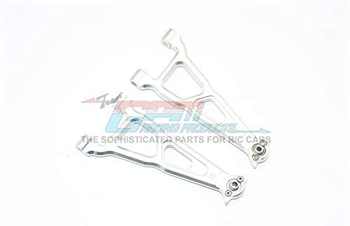GPM Losi 1/10 Baja Rey 4WD Desert Truck (LOS03008) Upgrade Parts Aluminum Front Upper Suspension Arm - 1 Pair Set Silver