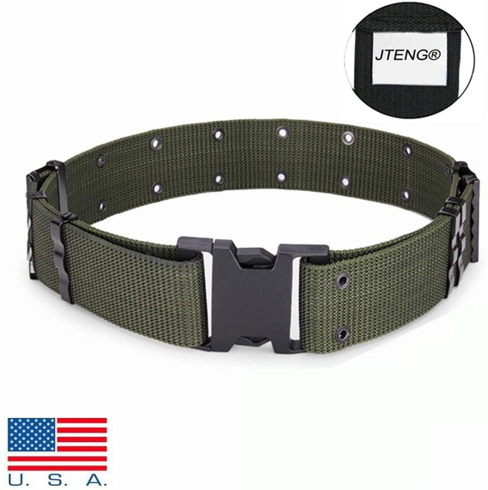 JTENG Military Men Belt Tactical Nylon Canvas Outside Army Trouser Buckle Strap