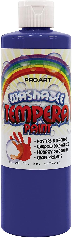 Pro Art Washable Tempera Paint, 16 fl. oz. (473 ml), Blue