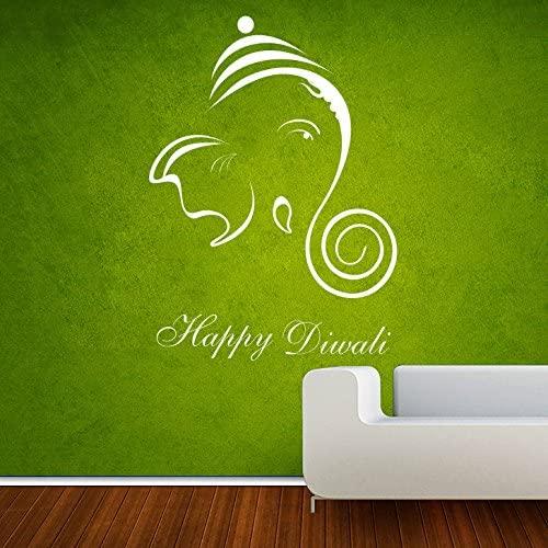 DreamKraft Happy Diwali Wall Decor Art Stickers Vinyl Decals Home Decor for Living Room & Kids bedroom (11X15 Inch)