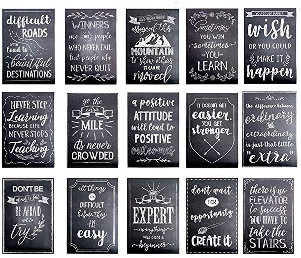 Geeduo Inspirational Wall Art Positive Quotes Wall Decor Motivational Posters for Students Inspirational Classroom Decorations Home Office Wall Decor (Frameless5, 12x18)