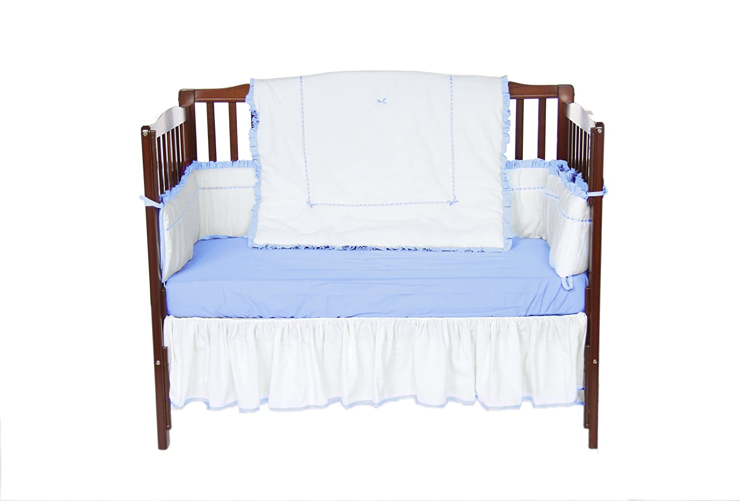 Baby Doll Bedding Unique Crib Bedding Set, Blue
