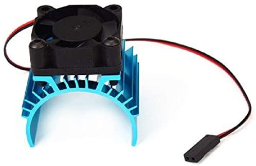 ShineBear Hot for Sale Blue RC Parts Electric Car Motor Radiator Cover Cooling Fan for 1:10 HSP RC Car 540 550 3650 Engine Power Radiator - (Color: Sky Blue)