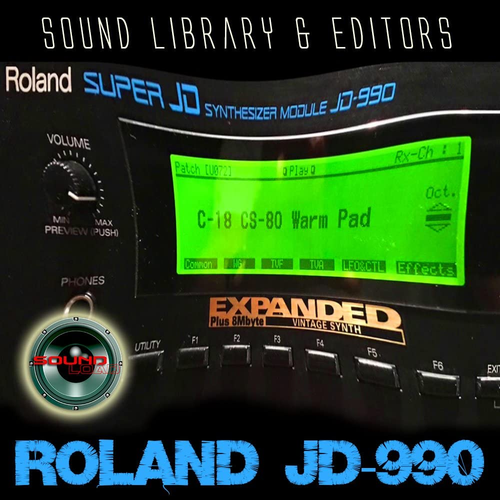 ROLAND JD-990 HUGE Original Factory and NEW Created Sound Library & Editors on CD or download