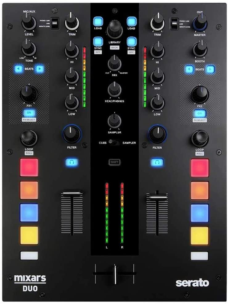 Mixars DUO MKII 2-Channel Mixer for Serato DJ