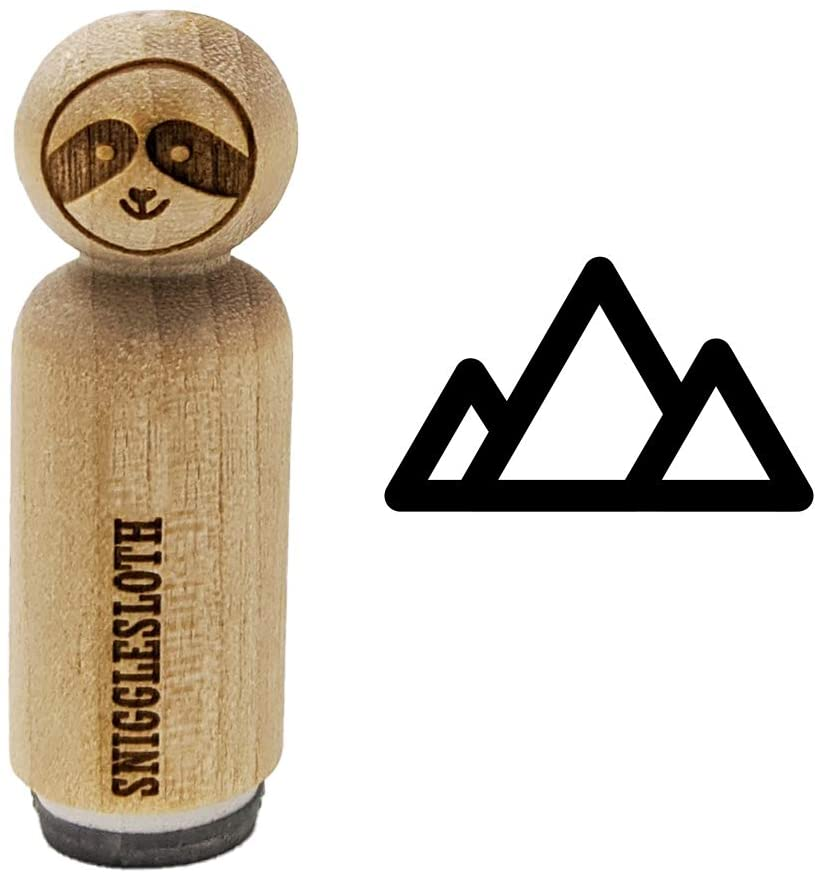Mountain Range Rubber Stamp for Stamping Crafting Planners - 1/2 Inch Mini