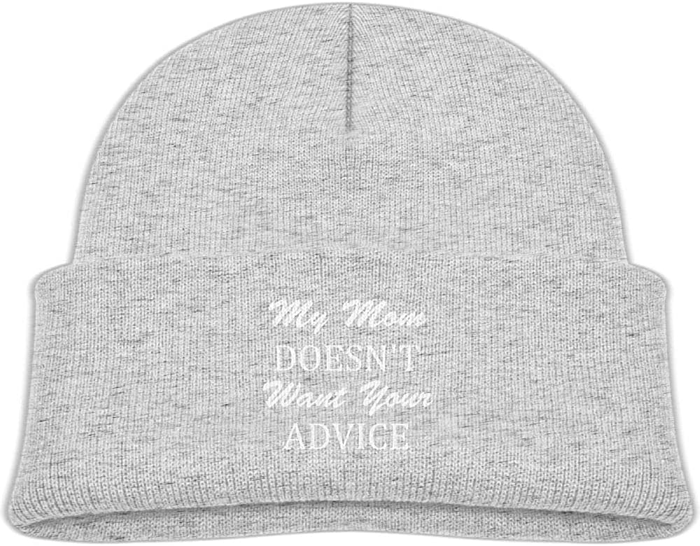 EASON-G Kid's Beanie My Mom Doesn't Want Your Advice Cuffed Knit Hat Skull Cap
