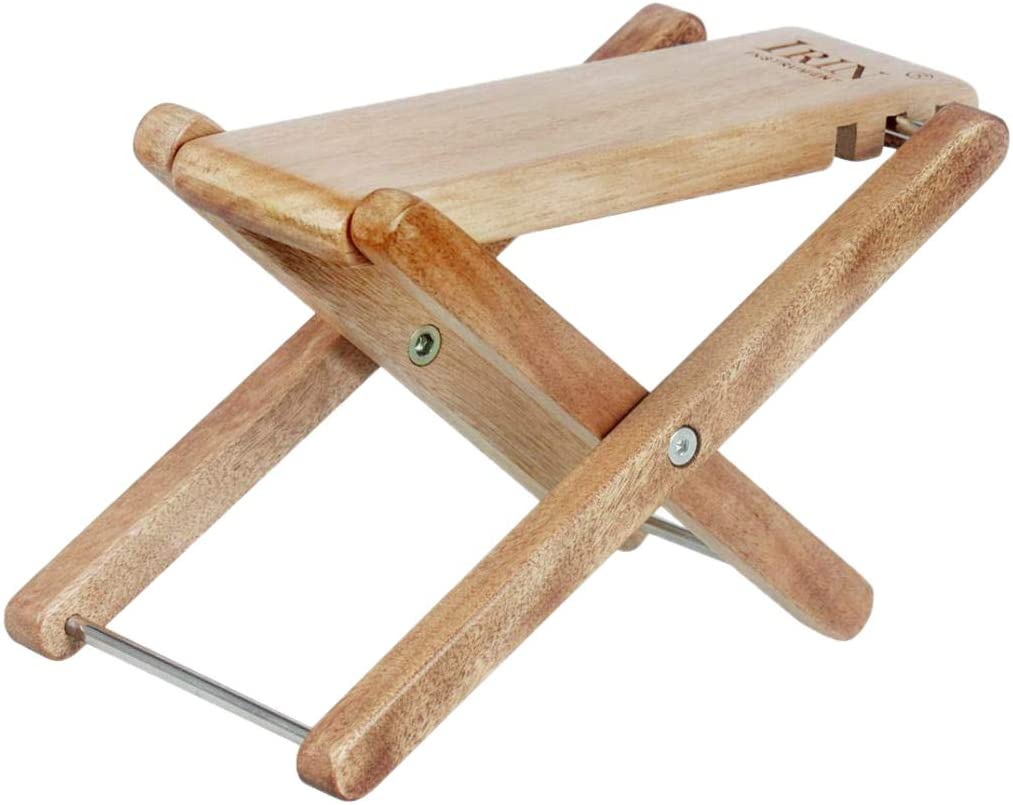 Baosity Adjustable Guitar Foot Rest Stool Pedal Foot Step,Made of Solid Wood,for Practice and Stage Performance