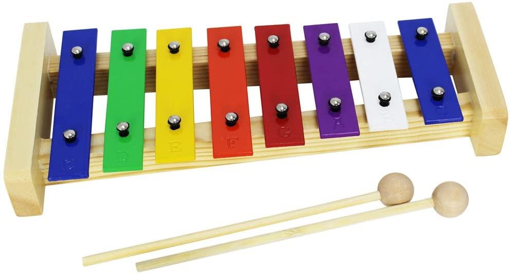 A-Star 8 Note Glockenspiel - Coloured Keys
